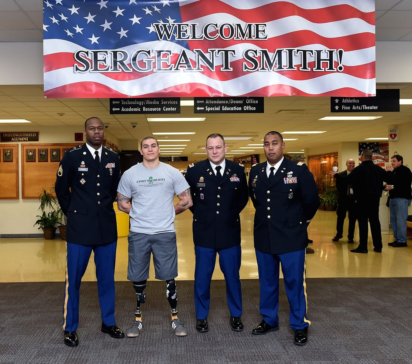 Sgt. Smith greeted - Army 85th Support Command